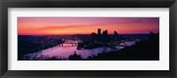Framed Pittsburgh against a Red Sky