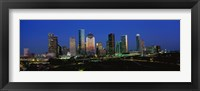 Framed Houston, Texas Skyline at Night