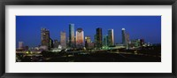 Framed Houston, Texas Skyline at Night