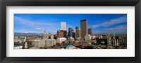 Framed Skyline View of Denver Colorado in the Day