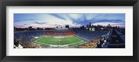 Framed Soldier Field Football, Chicago, Illinois, USA