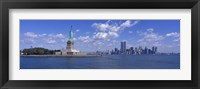 Framed Statue of Liberty and Twin Towers