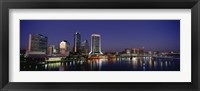 Framed Buildings Lit Up At Night, Jacksonville, Florida, USA