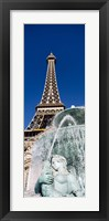 Framed Fountain Eiffel Tower Las Vegas NV