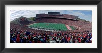 Framed University Of Wisconsin Football Game, Camp Randall Stadium, Madison, Wisconsin, USA
