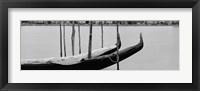 Framed Gondola in a lake, Oakland, California, USA