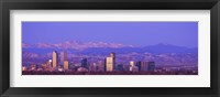 Framed Denver Skyline, Colorado