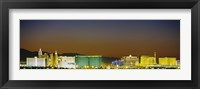 Framed Las Vegas skyline at night, Nevada