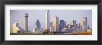 Framed Buildings in a city, Dallas