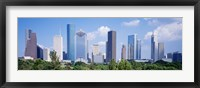 Framed Houston Skyline, Texas