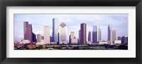 Framed Houston, Texas Skyline