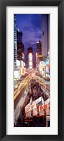 Framed High Angle view of Times Square, NYC