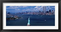 Framed Statue of Liberty with New York City Skyline
