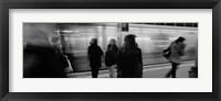 Framed Subway, Station, NYC, New York City, New York State, USA