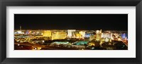Framed High Angle View Of Buildings Lit Up At Night, Las Vegas, Nevada