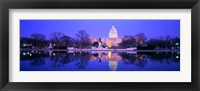 Framed Christmas, US Capitol, Washington DC, District Of Columbia, USA