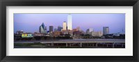 Framed Dallas on a cloudy day, TX
