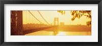 Framed Bridge across the river, George Washington Bridge, New York City