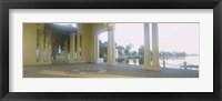 Framed Building on the waterfront, Lake Merritt, Oakland, California, USA