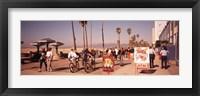 Framed People Walking On The Sidewalk, Venice, Los Angeles, California, USA