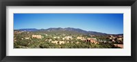 Framed High angle view of a city, Santa Fe, New Mexico, USA