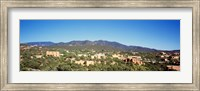 Framed High angle view of a city, Santa Fe, New Mexico, USA