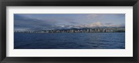 Framed Honolulu skyline on a cloudy day, Hawaii
