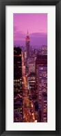 Framed High angle view of a city, Fifth Avenue, Midtown Manhattan, New York City, New York State, USA