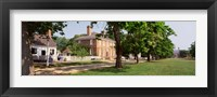 Framed People Standing On The Street, Williamsburg, Virginia, USA