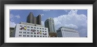 Framed Cloud over tall building structures, Columbus, Ohio