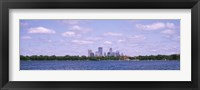 Framed Skyscrapers in a city, Chain Of Lakes Park, Minneapolis, Minnesota, USA
