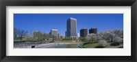 Framed Skyscrapers near a canal, Brown's Island, Richmond, Virginia, USA