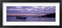 Framed Ferry in the sea, Bainbridge Island, Seattle, Washington State