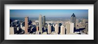 Framed Aerial view of Atlanta skyscrapers, Georgia