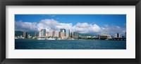 Framed Buildings On The Waterfront, Downtown, Honolulu, Hawaii, USA