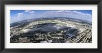 Framed Aerial view of an airport, Midway Airport, Chicago, Illinois, USA