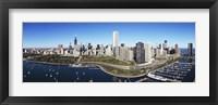 Framed Boats docked at a harbor, Chicago, Illinois, USA