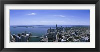 Framed Aerial view of a city, Miami, Florida