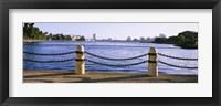 Framed Lake In A City, Lake Merritt, Oakland, California, USA