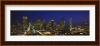 Framed Buildings at Night, Dallas, Texas