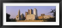 Framed Low angle view of buildings in a city, Scioto River, Columbus, Ohio, USA
