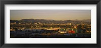 Framed High angle view of a city, San Gabriel Mountains, Hollywood Hills, City of Los Angeles, California, USA