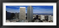Framed High angle view of a city, San Gabriel Mountains, Hollywood Hills, Century City, City of Los Angeles, California, USA