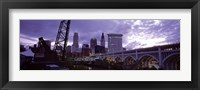 Framed Cleveland, Ohio Bridge and River