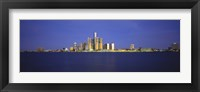 Framed Detroit Waterfront Skyline