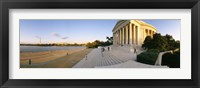 Framed Monument at the riverside, Jefferson Memorial, Potomac River, Washington DC, USA