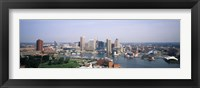 Framed Skyscrapers in a city, Baltimore, Maryland