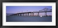 Framed Bay Bridge, Treasure Island, Oakland, San Francisco, California