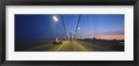 Framed Bay Bridge with Cars at Night, San Francisco, California