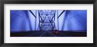 Framed Bay Bridge at Night, San Francisco, California